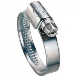 Colliers W1 Bande 9 mm - Acier zingué blanc -⌀30-45mm - Lot de 25 - ACE - Colliers de serrage - BR-129157