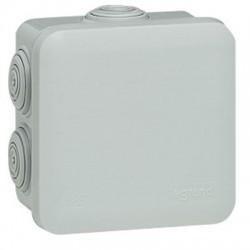 Boîte dérivation carrée Blanc PLEXO - 80 x 80 x 45 mm - LEGRAND - Boites d'encastrement et dérivation - BR-800175