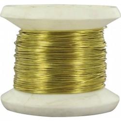 Bobine de fil Carcasse - Laiton - N°14 - ⌀ 0.45 mm - Fils d'attache grillage - BR-311577