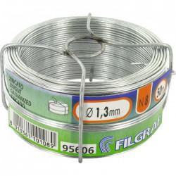 Fil d'attache Filgraf - Zingué - 50 m - ⌀ 1.3 mm - Fils d'attache grillage - BR-311565