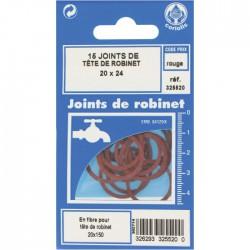 Joint en fibre pour tête de robinet - ⌀21 x 24 mm - Lot de 15 - GRIPP - Joint fibre de tête de robinet - BR-547980