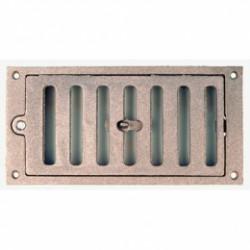 Grille Aération Rectangle Fonte 180X75 mm - JARDINIER MASSARD - Grille de ventilation - BR-615838