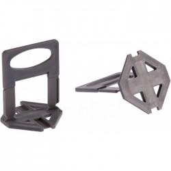 Sachet de 100 bases de croisillons auto-nivelant - 1 mm - OUTIBAT - Croisillons pour carrelage - BR-826173