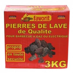 Pierre de lave - 3 Kgs - FAVORIT - Allume-feux - BR-203443