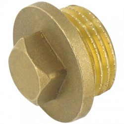 Bouchon Mâle en laiton - 33 x 42 mm - CAP VERT - Raccords filetés - BR-589753