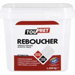 Enduit de rebouchage en pâte - Pot de 1250 Grs - TOUPRET - Enduit de rebouchage - BR-565446
