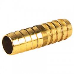 Jonction en laiton Droite - ⌀ 15 mm - CAP VERT - Raccords cannelés - BR-588131