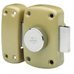 Verrou de sureté bouton et cylindre - 45 mm - Cyclop - VACHETTE - Verrous - BR-576190