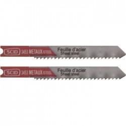 Lame pour scie sauteuse - Métal HSS - 50 mm - Lot de 2 - SCID - Scie / Lame - BR-513453