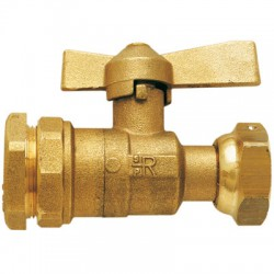 Vanne à sphère sans purge - serrage extérieur pour compteur - Vannes et raccords robinets - BR-585335