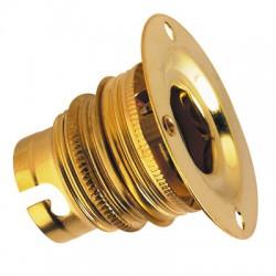 Douille B22 patère à embase - Double bague - L'EBENOàD - Douille pour ampoule B22 - BR-546259