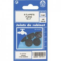 Joint Clapet plein Robinet - 16 x 7 mm - Lot de 5 - GRIPP - Joint clapet plein - BR-547476