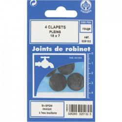 Joint Clapet plein Robinet - 18 x 7 mm - Lot de 4 - GRIPP - Joint clapet plein - BR-547492
