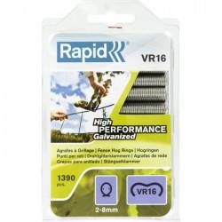 Agrafes grillage galvanisées VR16 - 1390 agrafes - RAPID - Agrafes - BR-299087