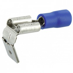Lot de 10 clips mixtes pré isolés ⌀ 6.35 mm - Bleu - DHOME - Cosses de connexions électrique - BR-245469