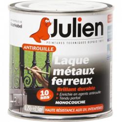Laque métaux ferreux antirouille - Blanc brillant - 250 ml - JULIEN - Antirouille - 151654D