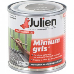 Primaire antirouille - Minium Gris - Protection anti-corrosion durable - 125 ml - JULIEN - Antirouille - BR-113549