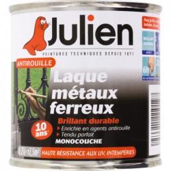 Laque métaux ferreux antirouille - Noir brillant - 250 ml - JULIEN - Antirouille - BR-687839
