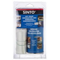 Kit de réparation - KIT500 Resine + Fibre - SINTO - Étanchéité / Isolation - DE-724542