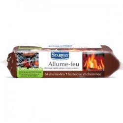 Allume-feu cheminée, barbecue 100% naturels de 84 carrées - STARWAX - Allume-feux - BR-301433