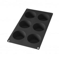 Moule à muffins en silicone - 6 gâteaux - Noir - LEKUE - Moules - 589572D