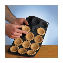 Moule à tartelettes en silicone - 15 cavités - Noir - LEKUE - Moules - DE-589515