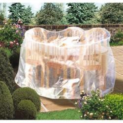 Housse de protection table - Ovale - CAP VERT - Protection mobilier jardin - BR-016130