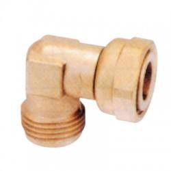 Coude laiton 90° pour raccord flexible gaz - 15 x 21 - EUROGAZ - Vannes et raccords Gaz - BR-047856