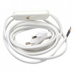 Cordon électrique pré-équipé blanc - GIRARD SUDRON - Interrupteurs luminaires - BR-117986