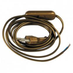 Cordon électrique pré-équipé Or - GIRARD SUDRON - Interrupteurs luminaires - BR-117994