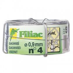 Bobine de fil de fer galvanisé N°4 - ⌀0.9 mm - FILIAC - Fils d'attache grillage - BR-154539