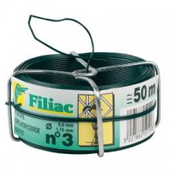 Bobine de fil galvanisé plastifié N°3 - Vert - FILIAC - Fils d'attache grillage - BR-154660