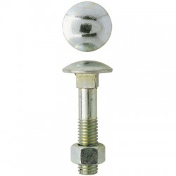 Boulon Japy tête ronde collet carré - ⌀6 x 40 mm - Boîte de 50 - FIX'PRO - Boulon Tête ronde - BR-181102