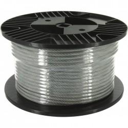 Bobine de 50 m de câble acier gainé PVC - ⌀2.5 mm - Câble / Chaîne - BR-033850