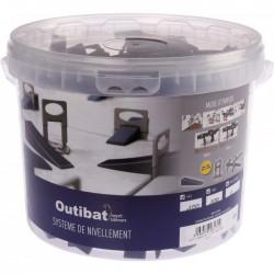 Kit de croisillons auto-nivelant avec cales et pince - 1 mm - OUTIBAT - Croisillons pour carrelage - BR-826171