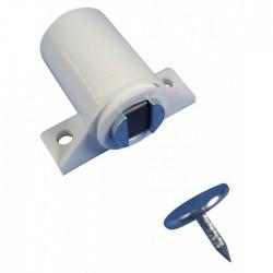 Loqueteau magnétique à visser - Blanc - STRAUSS - Targette / Loqueteau - BR-399354