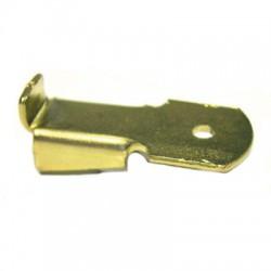 Taquet de crémaillère en acier laitonné - Lot de 12 - STRAUSS - Arrêt et butée de volet - BR-399524