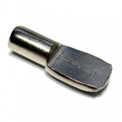 Taquet d'étagère acier nickelé - ⌀ 5 mm - Lot de 12 - STRAUSS - Équerre / Taquet - BR-399538