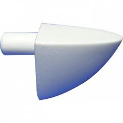 Taquet simple - ⌀ 5 mm - Blanc - Lot de 12 - STRAUSS - Équerre / Taquet - BR-399541