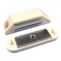Loqueteau magnétique 5/6 Kg - Blanc - 45 mm - Lot de 2 - STRAUSS - Targette / Loqueteau - BR-399347