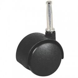Roulette Twiny Noire à douille - 40 mm - Accessoires de meuble - BR-251099