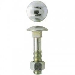 Boulon Japy tête ronde collet carré - ⌀6 x 60 mm - Boîte de 100 - GFD - Boulon Tête ronde - BR-276677