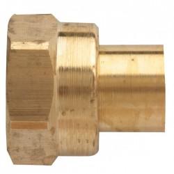 Raccord 2 pièces pour butane / propane - Tube de 10 mm - EUROGAZ - Vannes et raccords Gaz - BR-047651