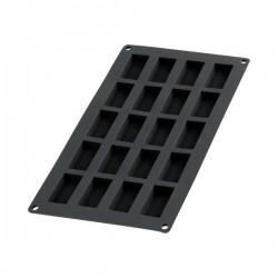 Moule à financiers en silicone - 20 cavités - Noir - LEKUE - Moules - 589531D