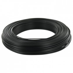 Câble d'installation H07V-U 2.5 mm² - 100 M - Noir - ELECTRALINE - Fils et câbles électriques - BR-373125