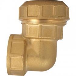 Coude 90° Femelle en laiton - ⌀ 25 mm - CAP VERT - Coudes mâle - femelle - BR-324258