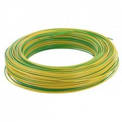 Câble d'installation H07V-U 2.5 mm² - 100 M - Vert / Jaune - ELECTRALINE - Fils et câbles électriques - BR-373095