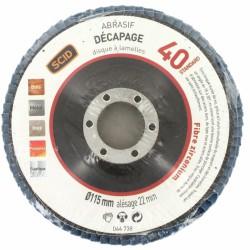 Disque à lamelles - Zirconium - Diamètre 150 mm - Grain 40 - SCID - Disque - BR-044738