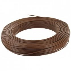 Câble d'installation H07V-U 2.5 mm² - 100 M - Marron - ELECTRALINE - Fils et câbles électriques - BR-675687