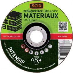 Disque à tronçonner - Usage fréquent - 125 x 2.5 mm - SCID - Disque - BR-869830